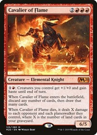 Cavalier of Flame, Magic: The Gathering, Core Set 2020