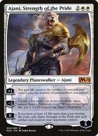Ajani, Strength of the Pride, Magic: The Gathering, Core Set 2020