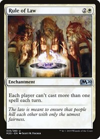 Rule of Law, Magic: The Gathering, Core Set 2020
