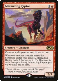 Marauding Raptor, Magic: The Gathering, Core Set 2020
