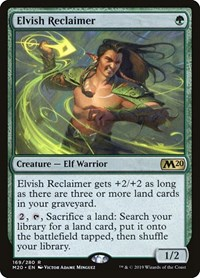 Elvish Reclaimer, Magic: The Gathering, Core Set 2020