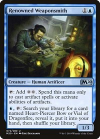 Renowned Weaponsmith, Magic: The Gathering, Core Set 2020