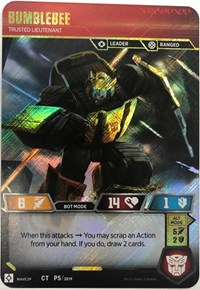 Transformers TCG BUMBLEBEE Promo FOIL CT P5 2019 unplayed card