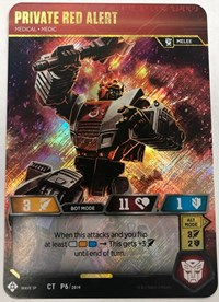 Private Red Alert - Medical Medic (In-Store Play Gold Promo), Transformers TCG, Transformers Promos