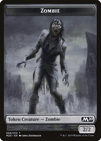 Zombie Token, Magic: The Gathering, Core Set 2020
