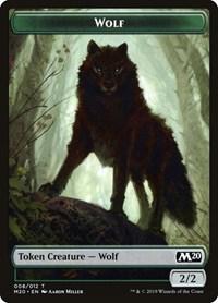 Wolf Token, Magic: The Gathering, Core Set 2020