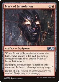 Mask of Immolation, Magic: The Gathering, Core Set 2020