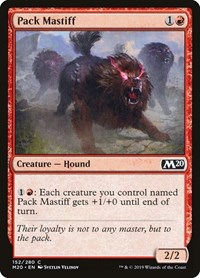 Pack Mastiff, Magic: The Gathering, Core Set 2020