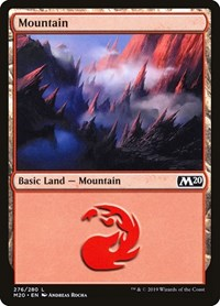 Mountain (276), Magic: The Gathering, Core Set 2020