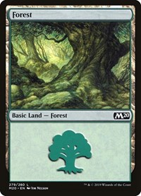 Forest (279), Magic: The Gathering, Core Set 2020
