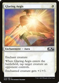 Glaring Aegis, Magic: The Gathering, Core Set 2020