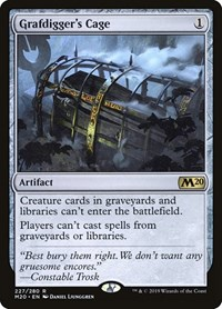 Grafdigger's Cage, Magic: The Gathering, Core Set 2020