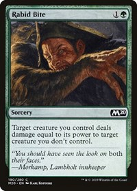 Rabid Bite, Magic, Core Set 2020