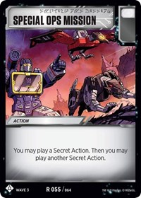 Special Ops Mission, Transformers TCG, War for Cybertron: Siege I