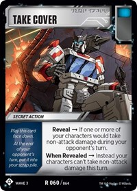 Take Cover, Transformers TCG, War for Cybertron: Siege I