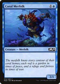 Coral Merfolk, Magic: The Gathering, Core Set 2020