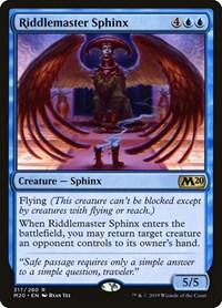 Riddlemaster Sphinx, Magic: The Gathering, Core Set 2020