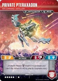 Private Pteraxadon - Air Command Artillery // Binary Edgewing Scythe, Transformers TCG, War for Cybertron: Siege I