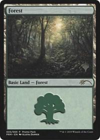 Version 2NMStandard Showdown PromoMagic MTG Forest FOIL