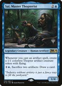 Sai, Master Thopterist, Magic: The Gathering, Promo Pack: Core Set 2020