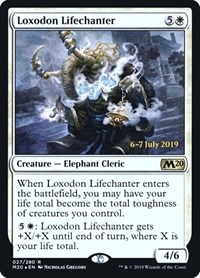 Loxodon Lifechanter, Magic: The Gathering, Prerelease Cards