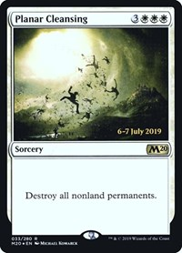 Planar Cleansing, Magic: The Gathering, Prerelease Cards