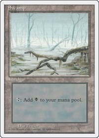 Swamp (A), Magic: The Gathering, Fourth Edition