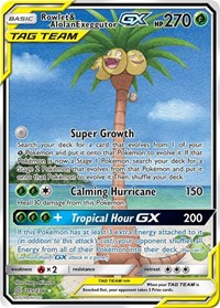 Rowlet & Alolan Exeggutor GX (Alternate Full Art), Pokemon, SM - Unified Minds