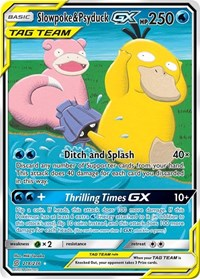 Slowpoke & Psyduck GX (Alternate Full Art), Pokemon, SM - Unified Minds