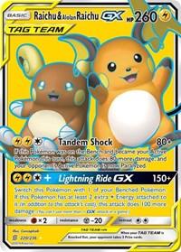Raichu & Alolan Raichu GX (Full Art), Pokemon, SM - Unified Minds