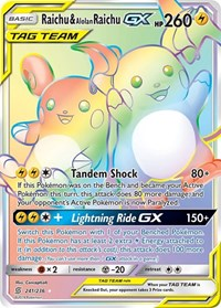 Raichu & Alolan Raichu GX (Secret), Pokemon, SM - Unified Minds