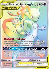 Mewtwo & Mew GX (Secret), Pokemon, SM - Unified Minds