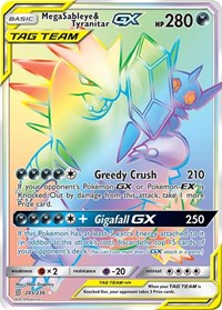 Mega Sableye & Tyranitar GX (Secret), Pokemon, SM - Unified Minds