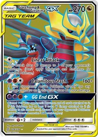 Garchomp & Giratina GX (Full Art), Pokemon, SM - Unified Minds