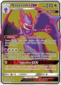Naganadel GX (Full Art), Pokemon, SM - Unified Minds