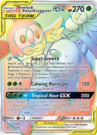 Rowlet & Alolan Exeggutor GX (Secret), Pokemon, SM - Unified Minds