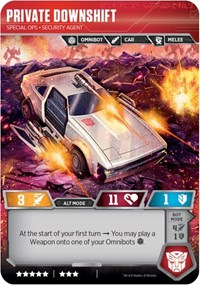 Private Downshift - Special Ops Security Agent, Transformers TCG, Transformers Promos