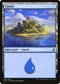 Island (291), Magic: The Gathering, Commander 2019