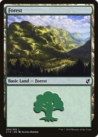 Forest (300), Magic: The Gathering, Commander 2019