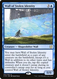 Wall of Stolen Identity, Magic: The Gathering, Commander 2019