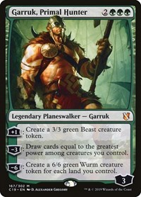 Garruk, Primal Hunter, Magic: The Gathering, Commander 2019