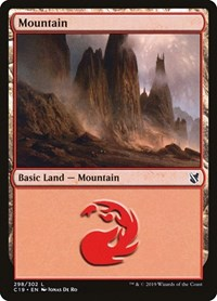 Mountain (298), Magic: The Gathering, Commander 2019