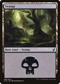 Swamp (296), Magic: The Gathering, Commander 2019