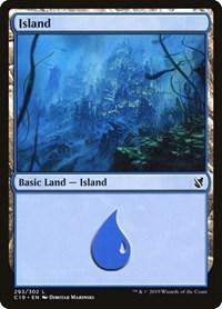 Island (293), Magic: The Gathering, Commander 2019