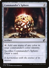 Commander's Sphere, Magic, Commander 2019