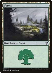 Forest (301), Magic: The Gathering, Commander 2019