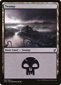 Swamp (295), Magic: The Gathering, Commander 2019