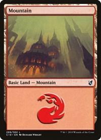 Mountain (299), Magic: The Gathering, Commander 2019