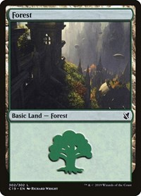 Forest (302), Magic: The Gathering, Commander 2019