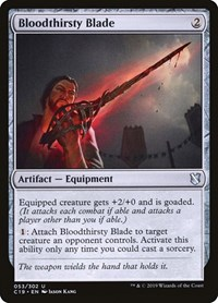 Bloodthirsty Blade, Magic, Commander 2019